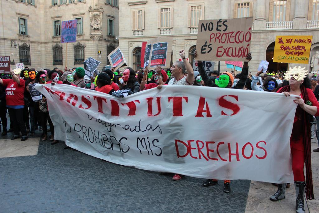 Manifestación de prostitutas. Sex Workers.