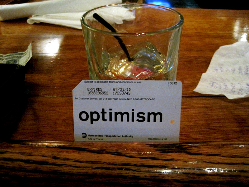 Optimism and a Whiskey Ginger