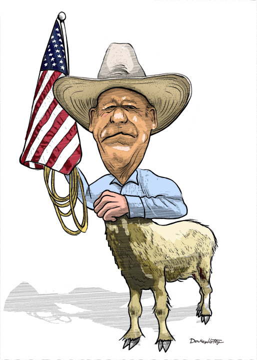 Cliven Bundy DonkeyHotey Illustration