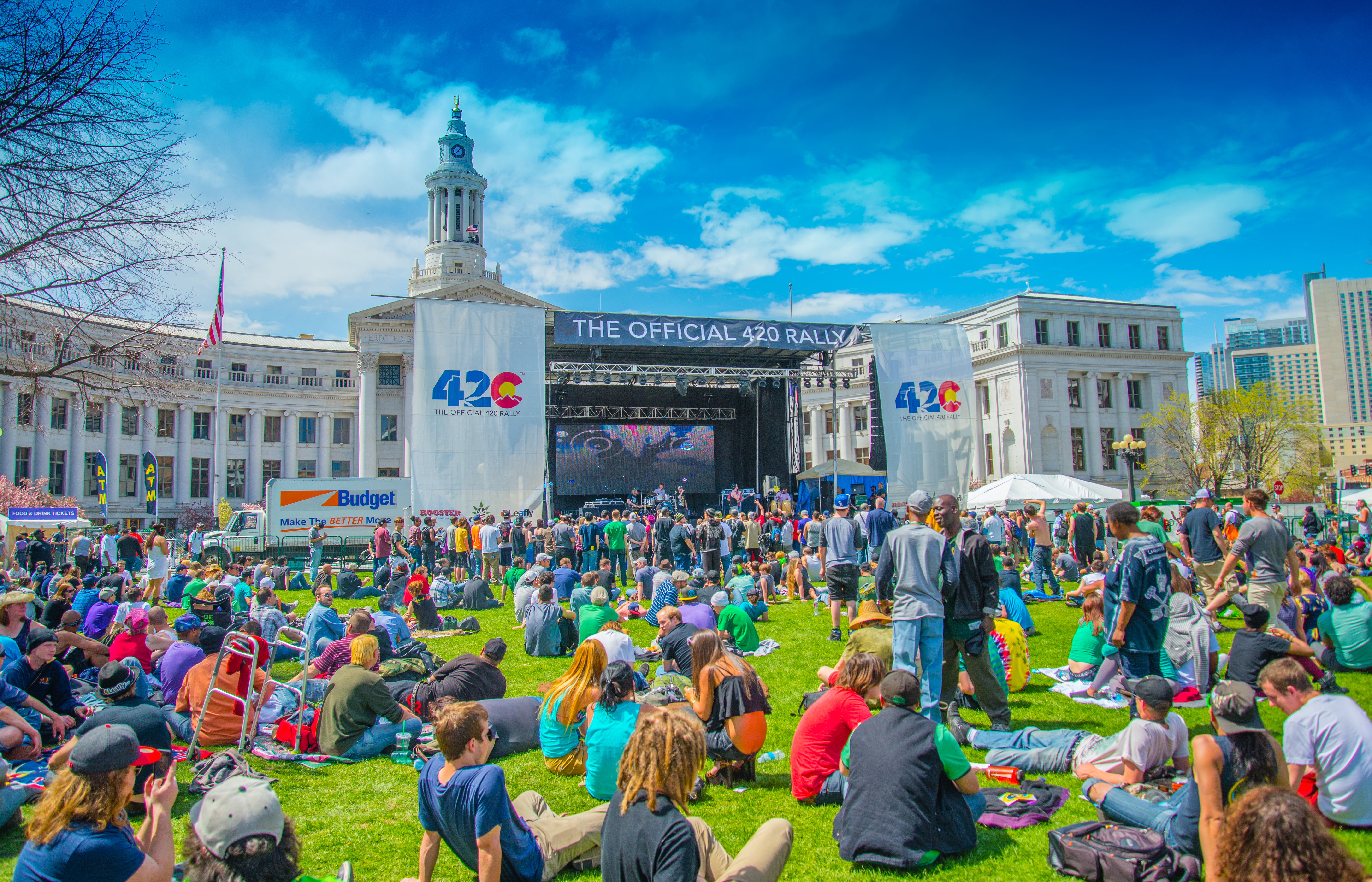 420 Rally, Denver Civic Center Park 2014 Official Main Stage. Image ©Fara Paige
