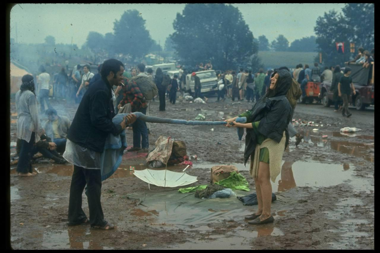 Scene from Woodstock. 1969.