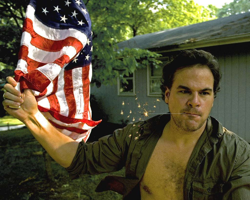 American Flag Sparkler 4th of July