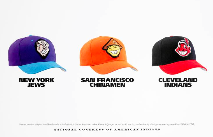 racist team mascots Hats NFL NBA NHL  National Congress American Indians