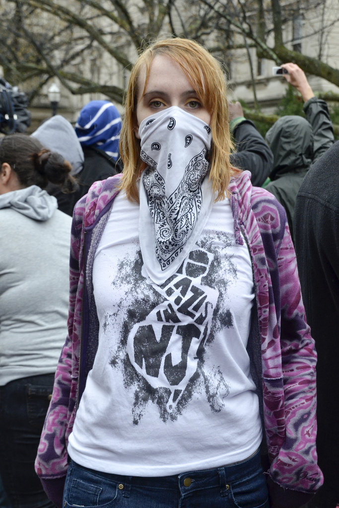 Nazi Hipster New Jersey Scarf Hoodie
