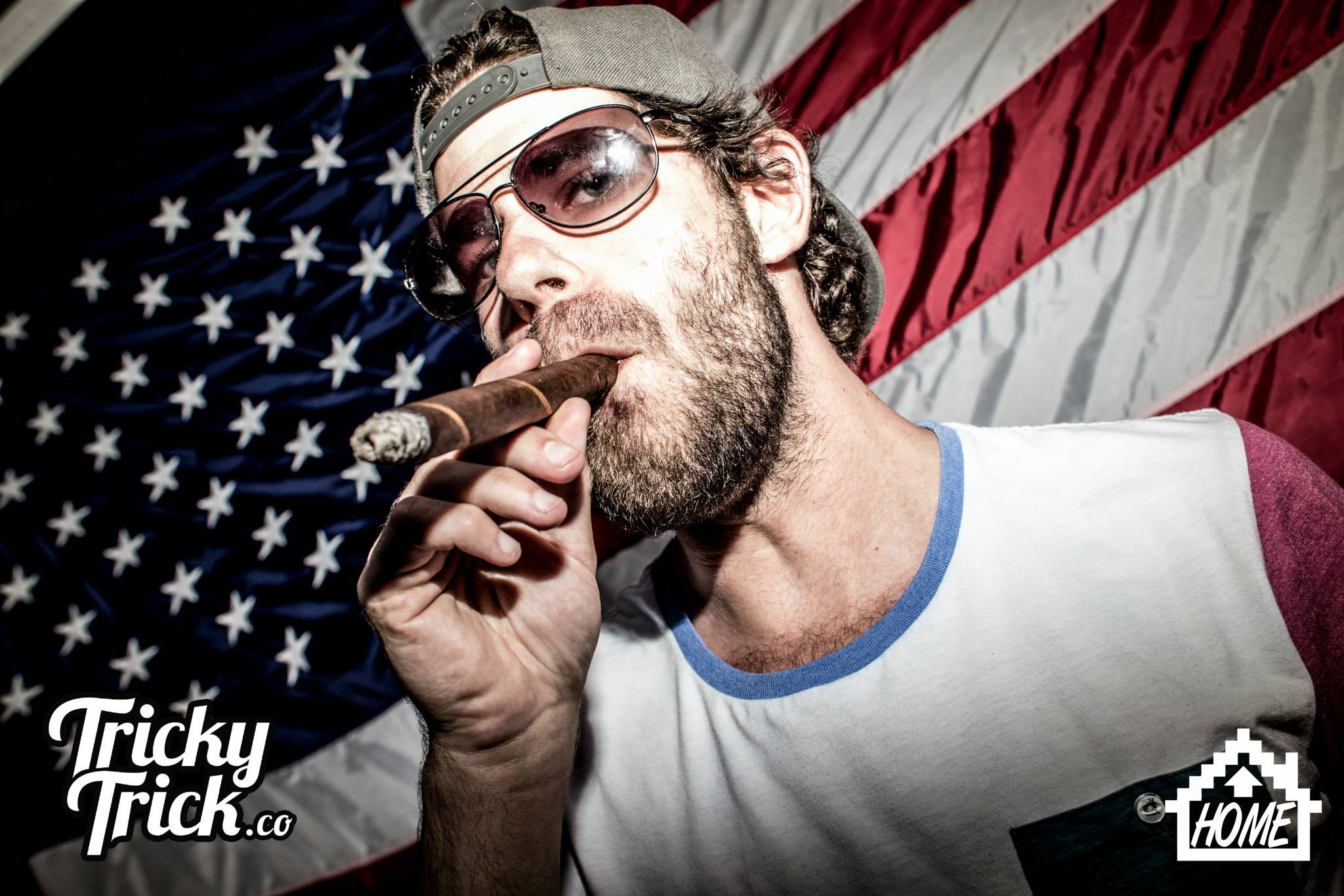 The Hundred Bar Standard Rooftop 4th of July Cigar American Flag