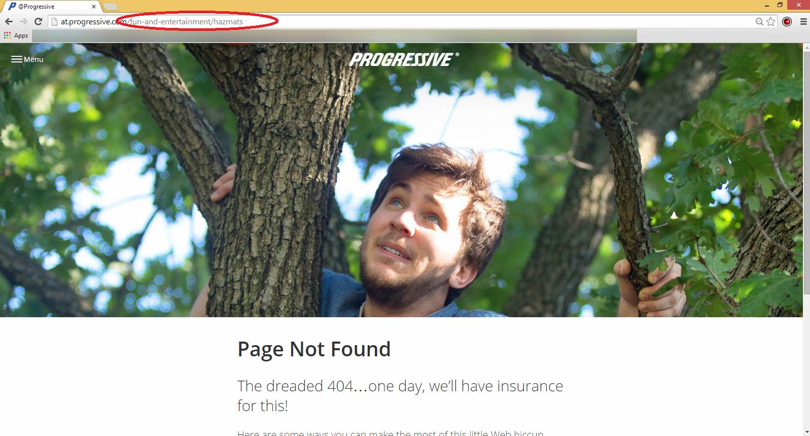 Progressive Hazmats ad 404
