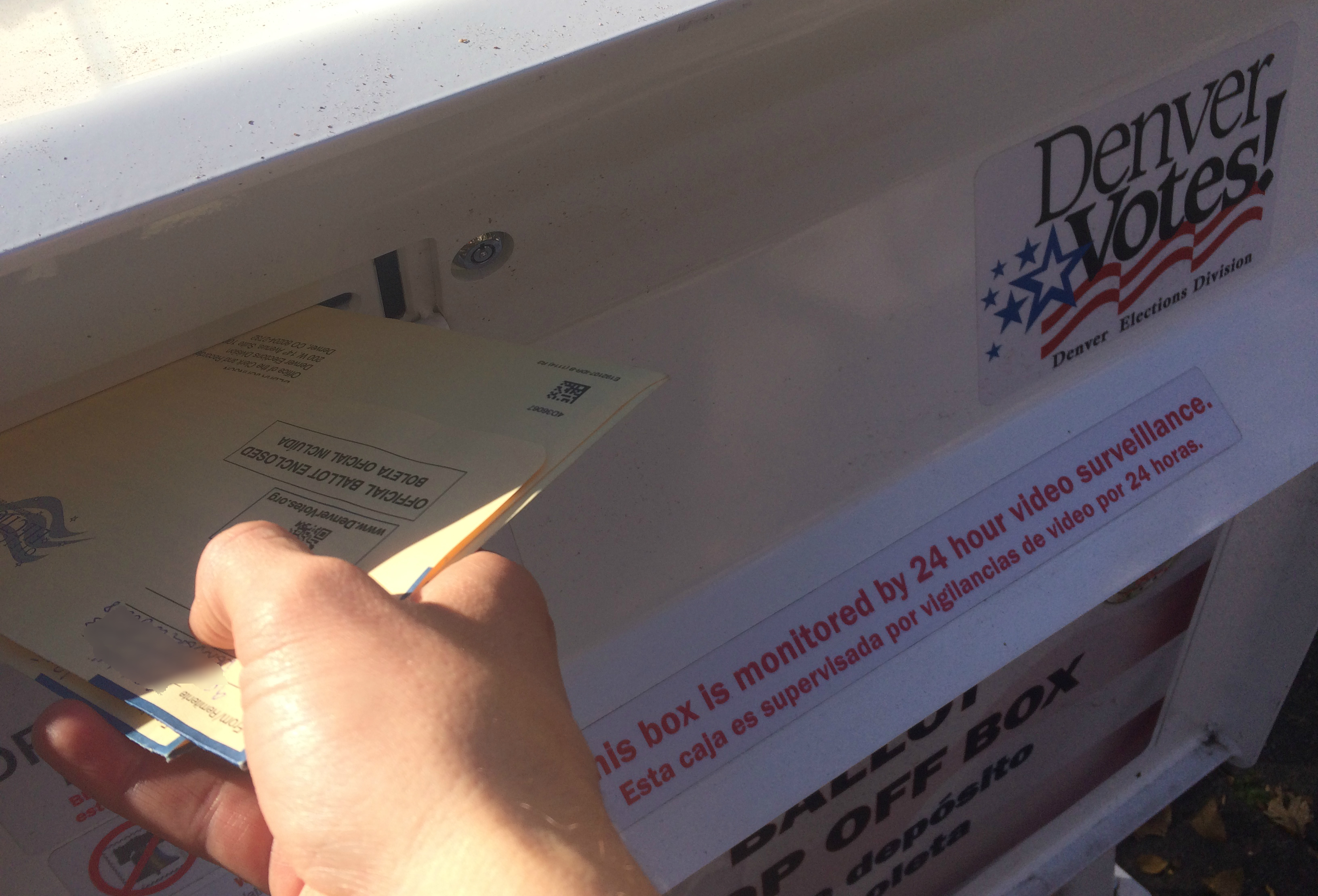 Denver Ballot Dropoff Box Vote