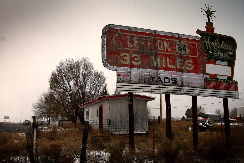 Vintage Holiday Inn Billboard Decay