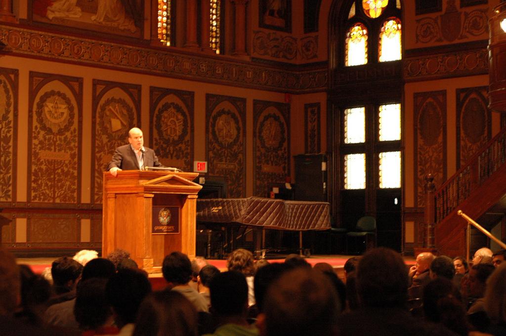 David Simon Speaks at Georgetown DC 2009