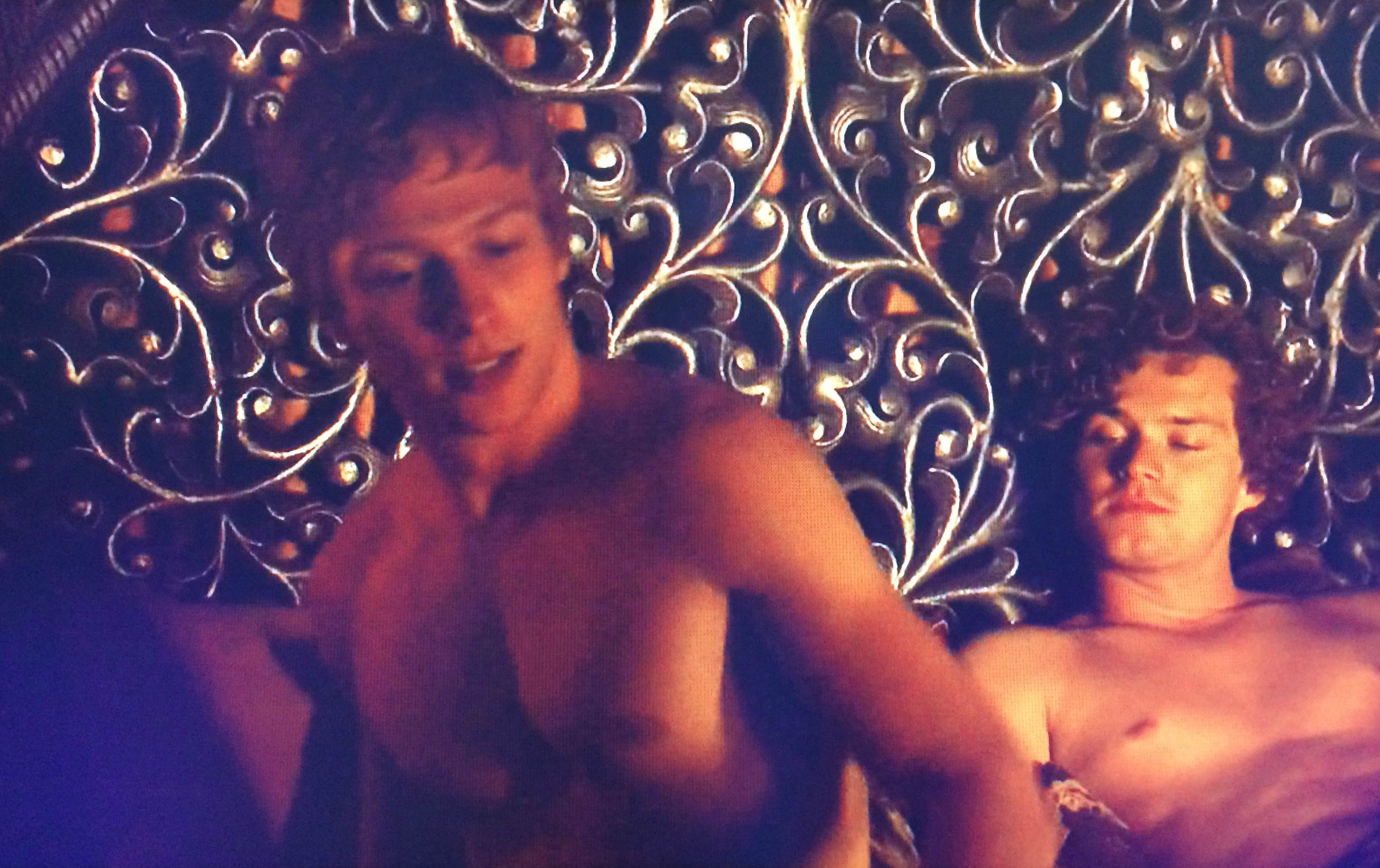 Loras Tyrell and Olyvar Game of Thrones nude bed