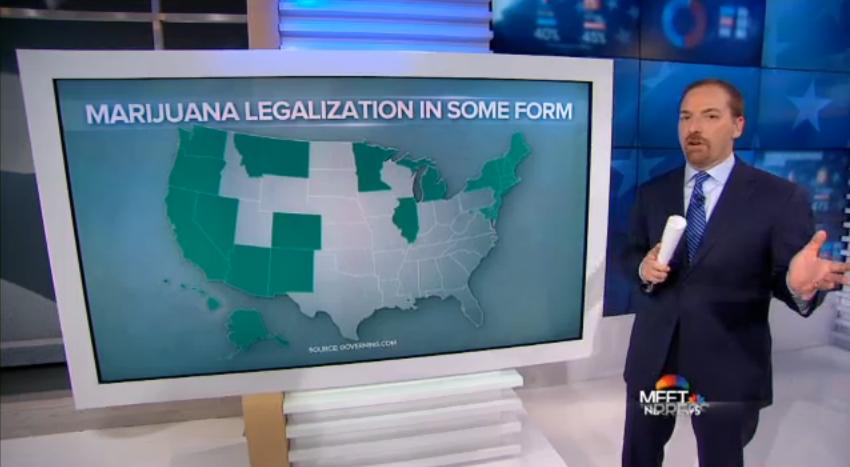 Meet the Press Marijuana Red Blue Divide