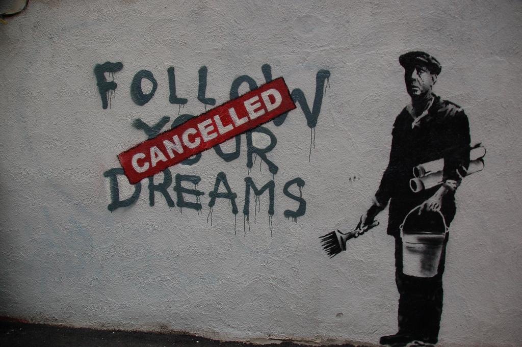 Banksy Boston Follow Your Dreams Canceled