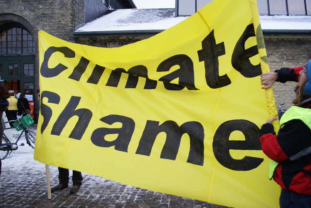 WWF Climate Change Protest Banner