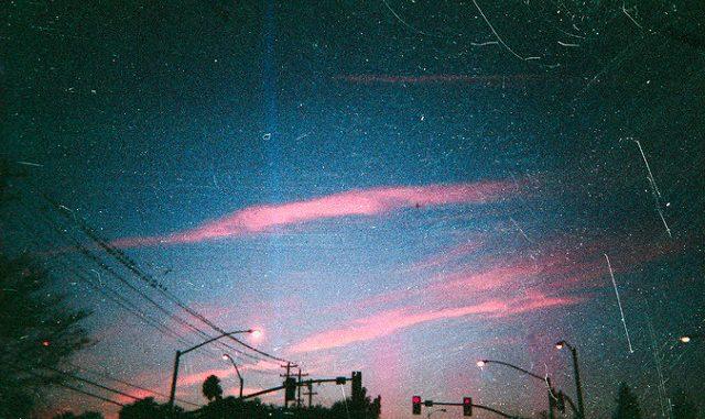 Scratchy bright skies